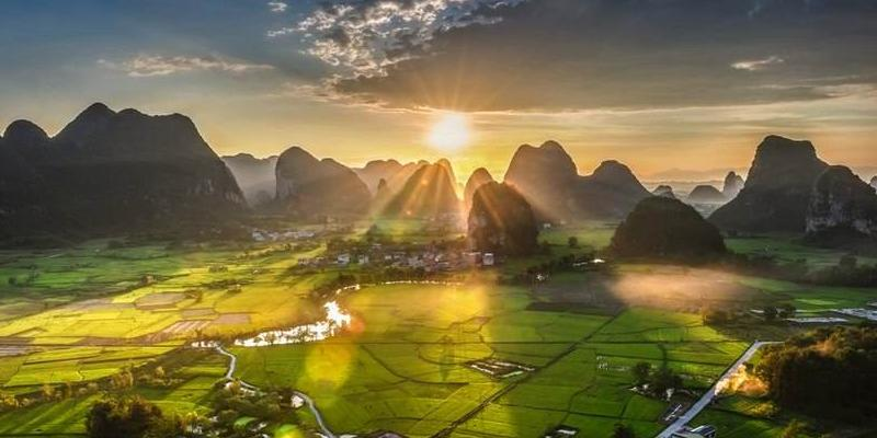 Guilin Huixian wetlands
